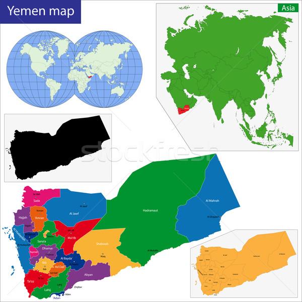 Iémen mapa república alto pormenor Foto stock © Volina
