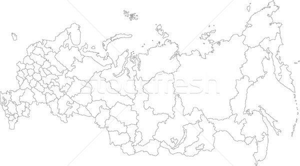 Outline Russia Map Vector Illustration Iryna Volina Volina - Russia administrative map