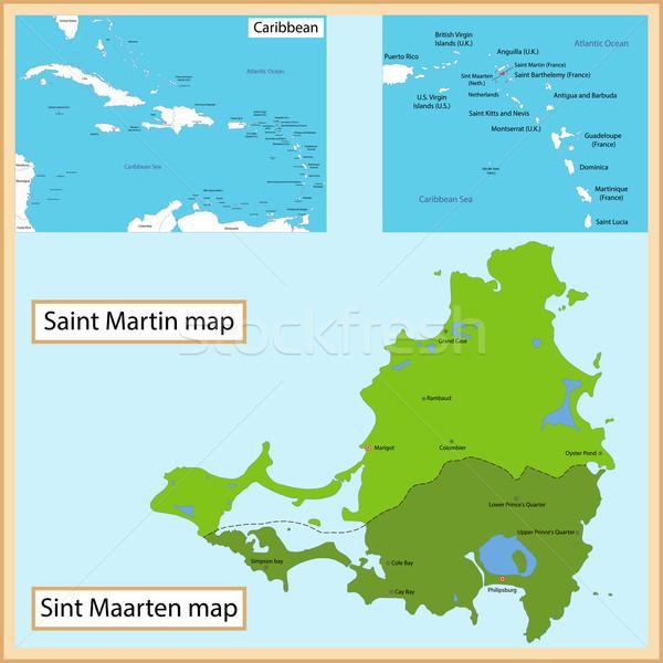 Saint Martin and Sint Maarten Stock photo © Volina