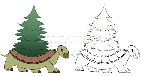 Cartoon turtle Stock photo © Volina