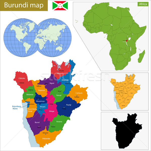 Burundi map Stock photo © Volina