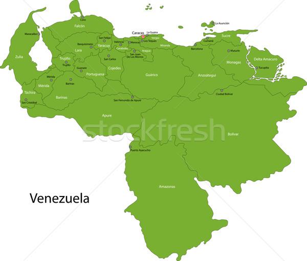 Green Venezuela map Stock photo © Volina