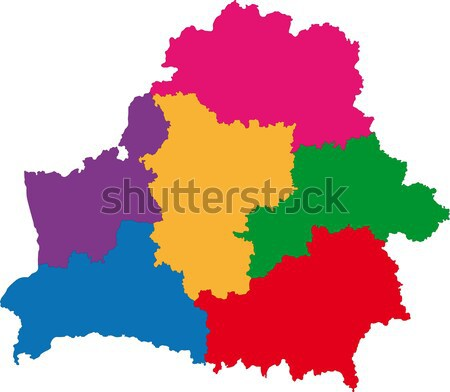 Belarus map Stock photo © Volina