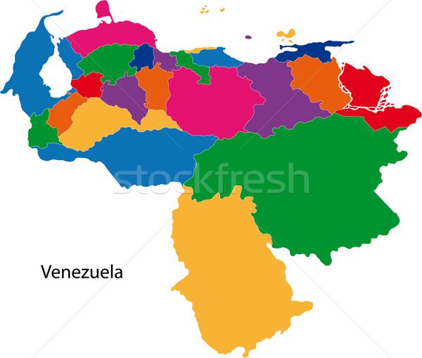 Colorful Venezuela map Stock photo © Volina