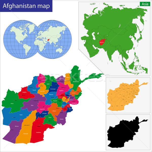 Афганистан карта республика ярко Сток-фото © Volina