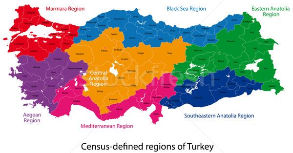 Turkey map Stock photo © Volina