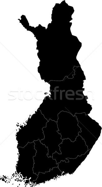 Black Finland map Stock photo © Volina