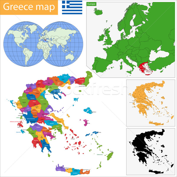 Greece map Stock photo © Volina