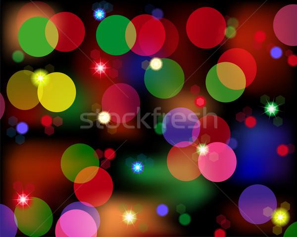 Miejscu światła kolorowy disco inny świetle Zdjęcia stock © Volina