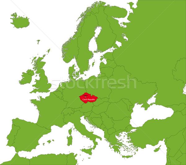 Czech Republic map Stock photo © Volina