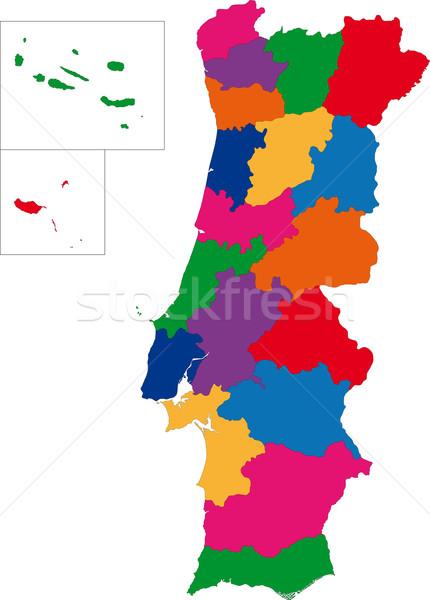 Portugal map Stock photo © Volina
