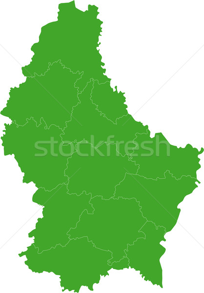 Green Luxembourg map Stock photo © Volina