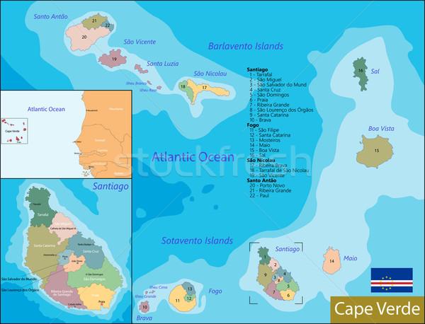 Cape Verde map Stock photo © Volina
