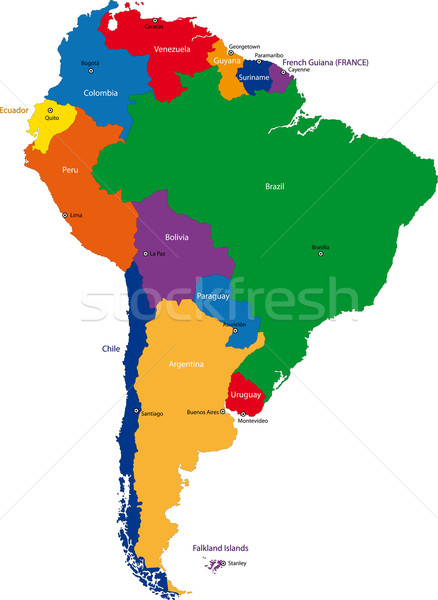 South America map Stock photo © Volina