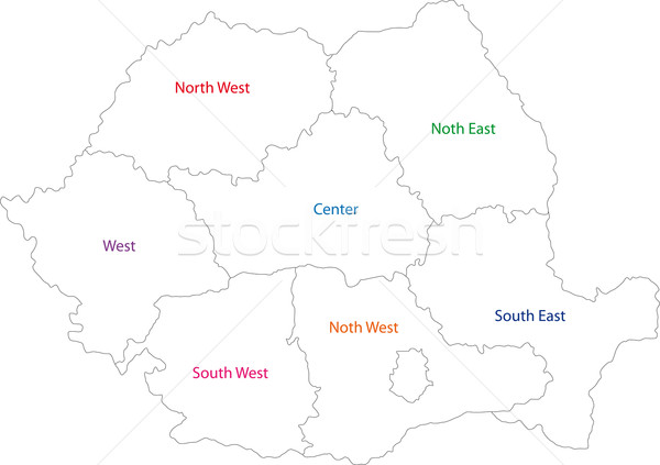 Outline Romania map Stock photo © Volina