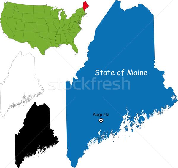Maine mapa ilustração EUA cor américa Foto stock © Volina