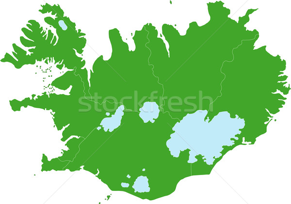 Green Iceland map Stock photo © Volina