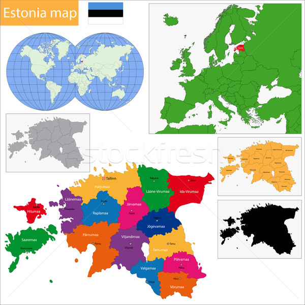 Estonia map Stock photo © Volina