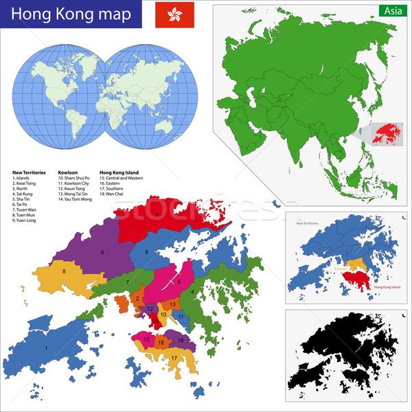 Hong Kong mappa vettore speciale amministrativa regione Foto d'archivio © Volina