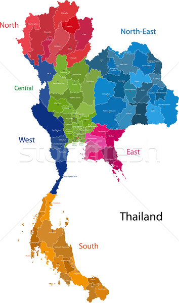Thailand map Stock photo © Volina
