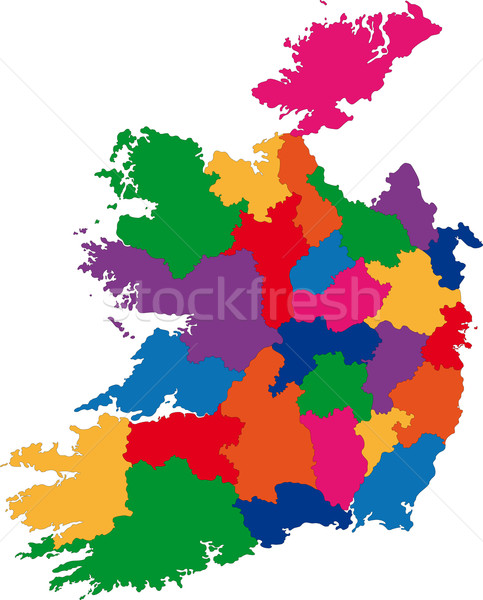 Ireland map Stock photo © Volina