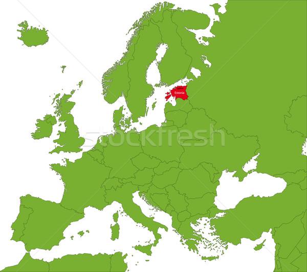 エストニア 地図 抽象的な 色 グラフ 国 ストックフォト © Volina