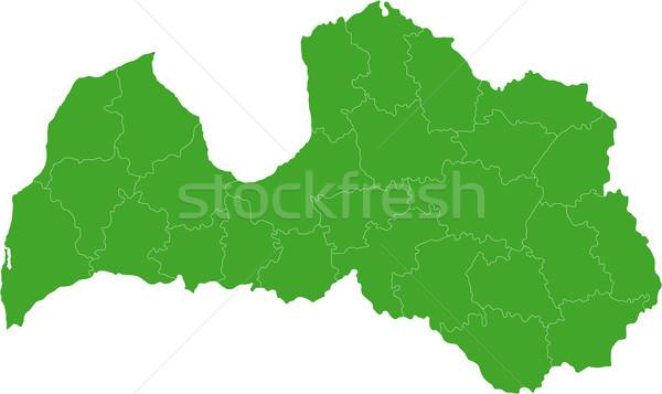 зеленый Латвия карта административный республика город Сток-фото © Volina