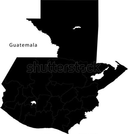 Preto Argentina mapa administrativo tecnologia fundo Foto stock © Volina