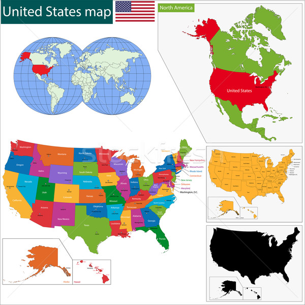 Colorido EUA mapa computador fundo Foto stock © Volina