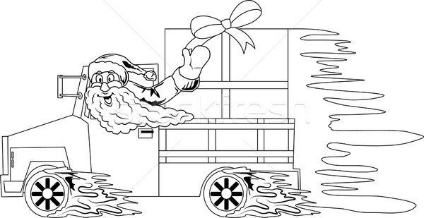 Дед Мороз вождения автомобилей Рождества подарки иллюстрация Сток-фото © Volina