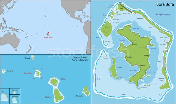 карта острове группа общество французский Сток-фото © Volina
