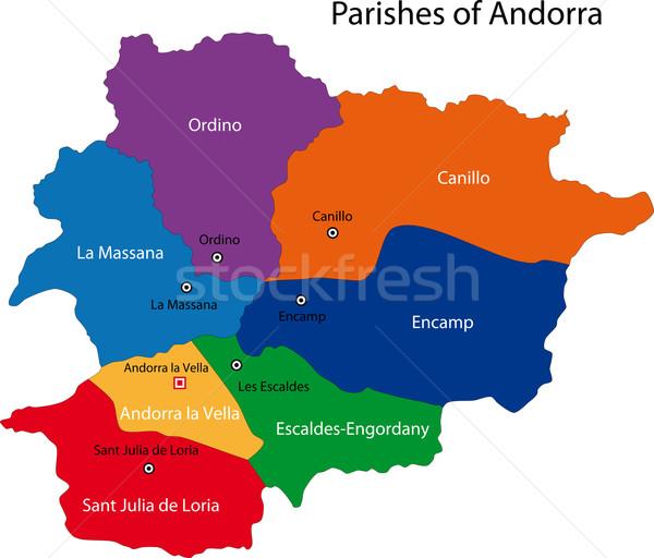 Andorra map Stock photo © Volina