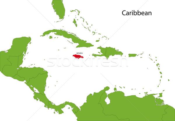 Giamaica mappa posizione Caraibi bianco grafico Foto d'archivio © Volina