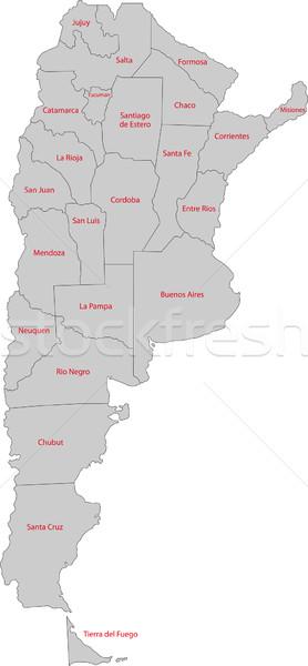 Grijs Argentinië kaart administratief ontwerp technologie Stockfoto © Volina