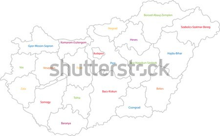 Outline Central Asia Stock photo © Volina