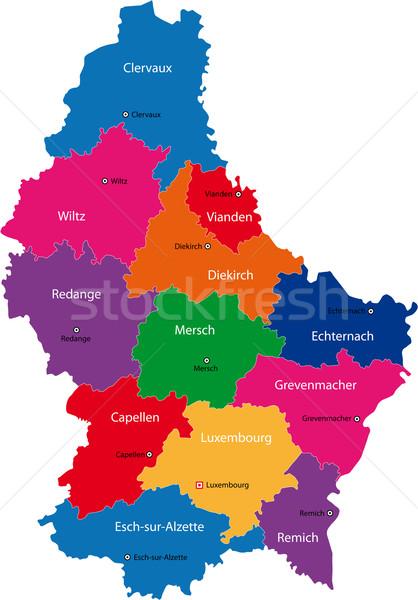 Luxembourg map Stock photo © Volina