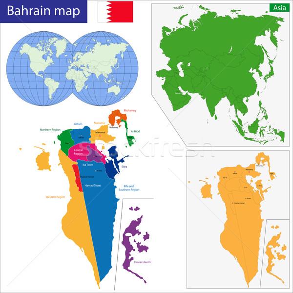Bahrain map Stock photo © Volina