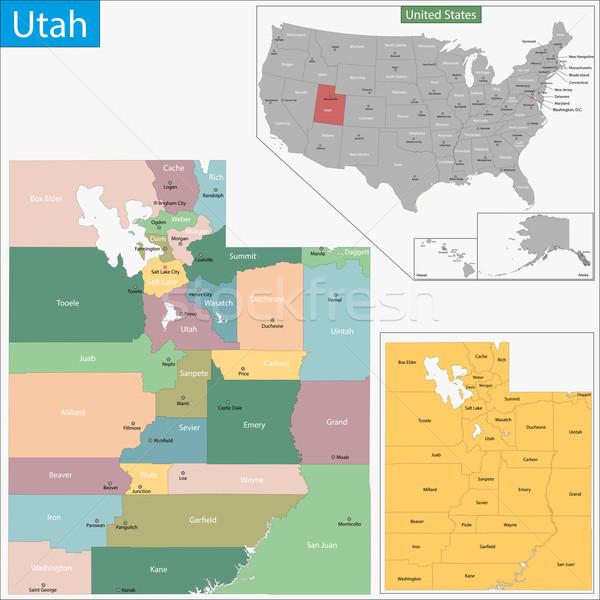 ユタ州 地図 実例 米国 ワシントン 米国 ストックフォト © Volina