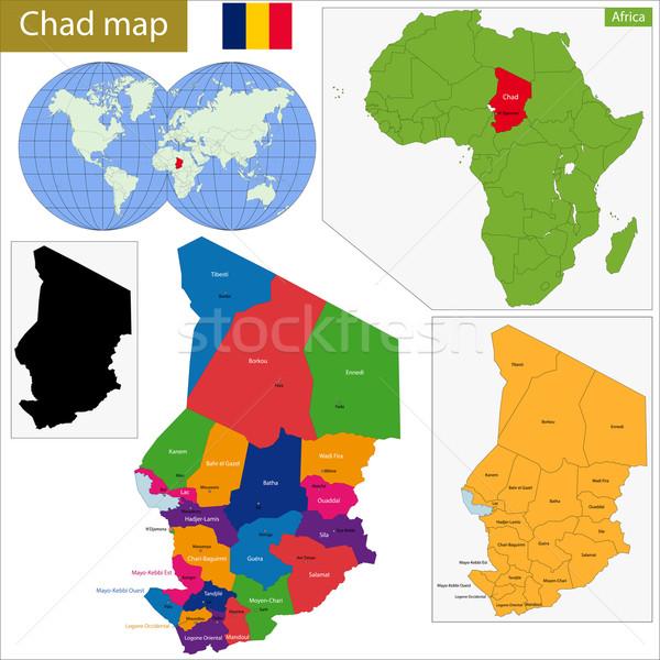 Chad map Stock photo © Volina