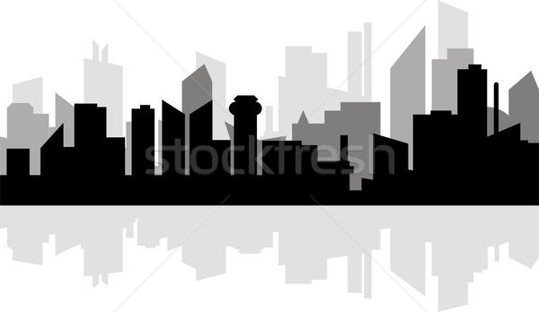 Moderno metrópole cidade arranha-céus linha do horizonte reflexão Foto stock © Volina