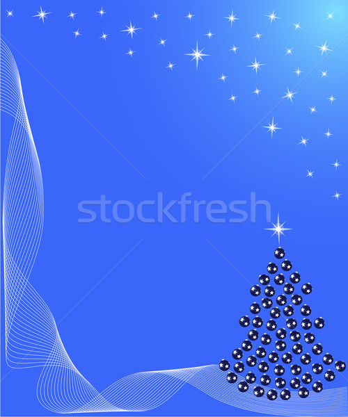 árvore de natal estrela decoração azul inverno Foto stock © Volina