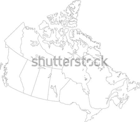 Outline Canada map Stock photo © Volina