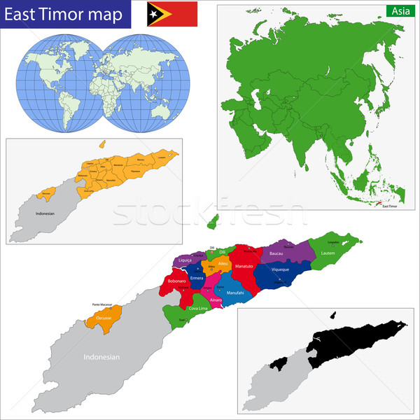 East Timor map Stock photo © Volina