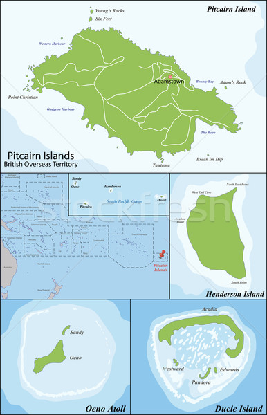 Pitcairn Islands map Stock photo © Volina