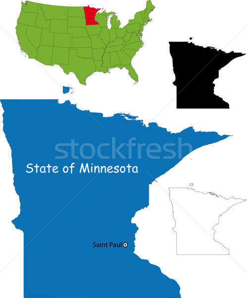 Minnesota carte illustration USA couleur pays Photo stock © Volina