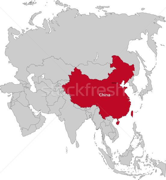 Location of China Stock photo © Volina