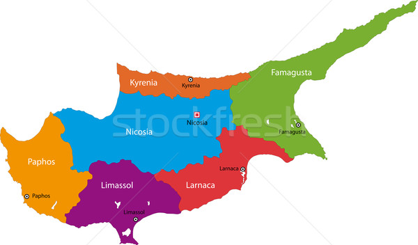 Cyprus map Stock photo © Volina