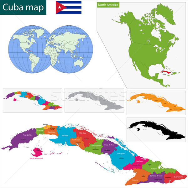Cuba map Stock photo © Volina