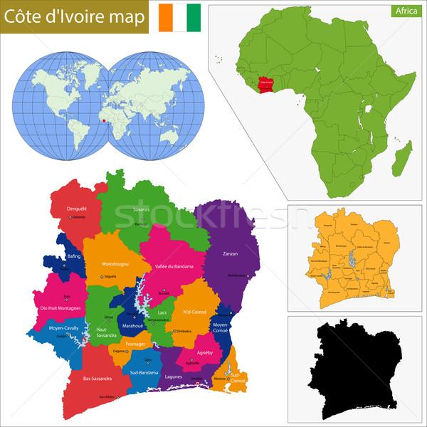 Ivory Coast map Stock photo © Volina