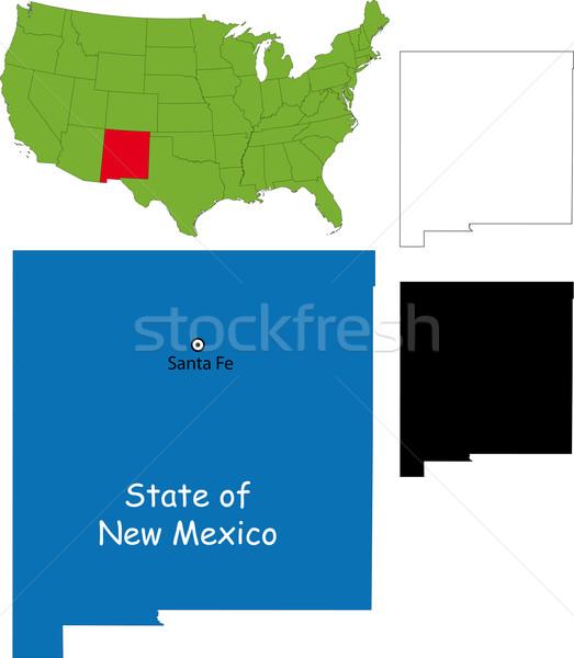New Mexico kaart illustratie USA achtergrond reizen Stockfoto © Volina
